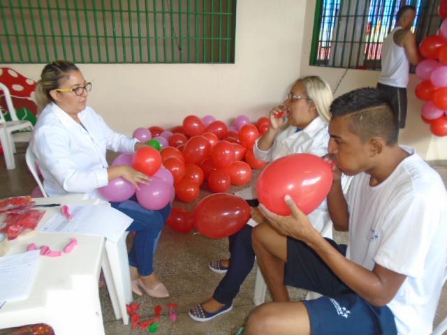 Internos recebem palestra sobre cuidados com o coração